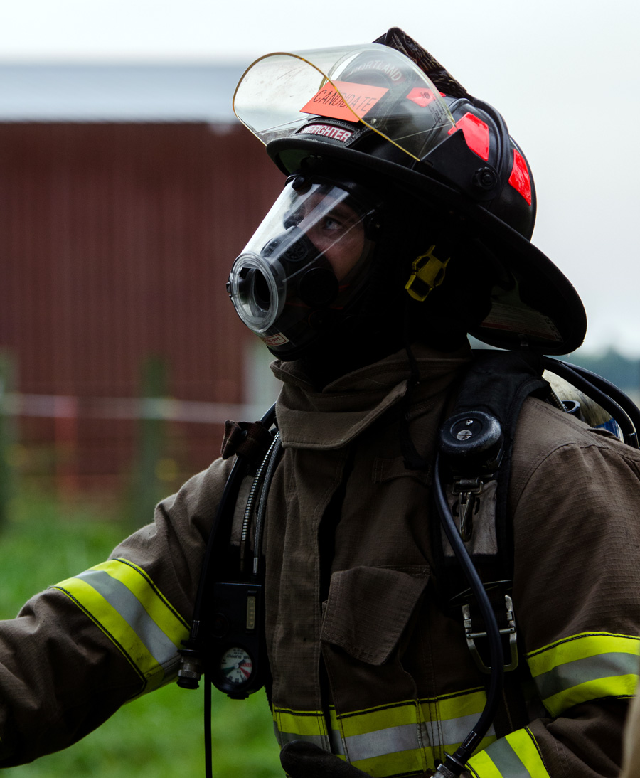 Cortland firefighter in uniform